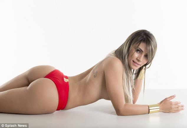 Seductive: Ana Paula Souza of Distrito Federal is among those battling it out for the title of Miss Bum Bum Brazil