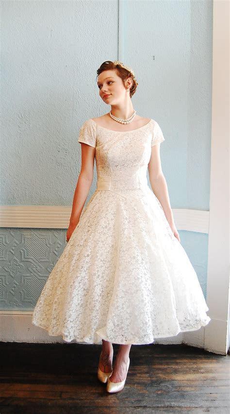 Tea Length Wedding Dress Pattern   Dresscab