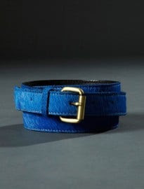 Topman Aaa Blue Leather Belt