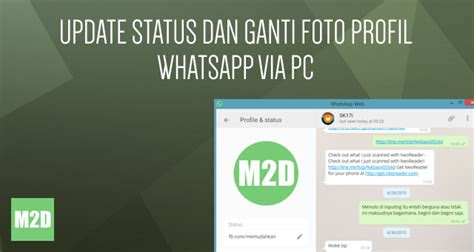 update status  ganti foto profil whatsapp  pc