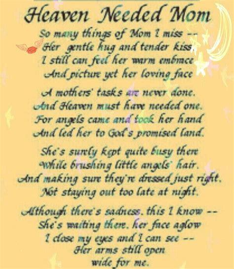 Birthday Quotes Mom Heaven