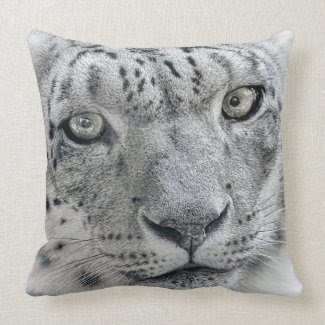 Exotic White Snow Leopard Pillows