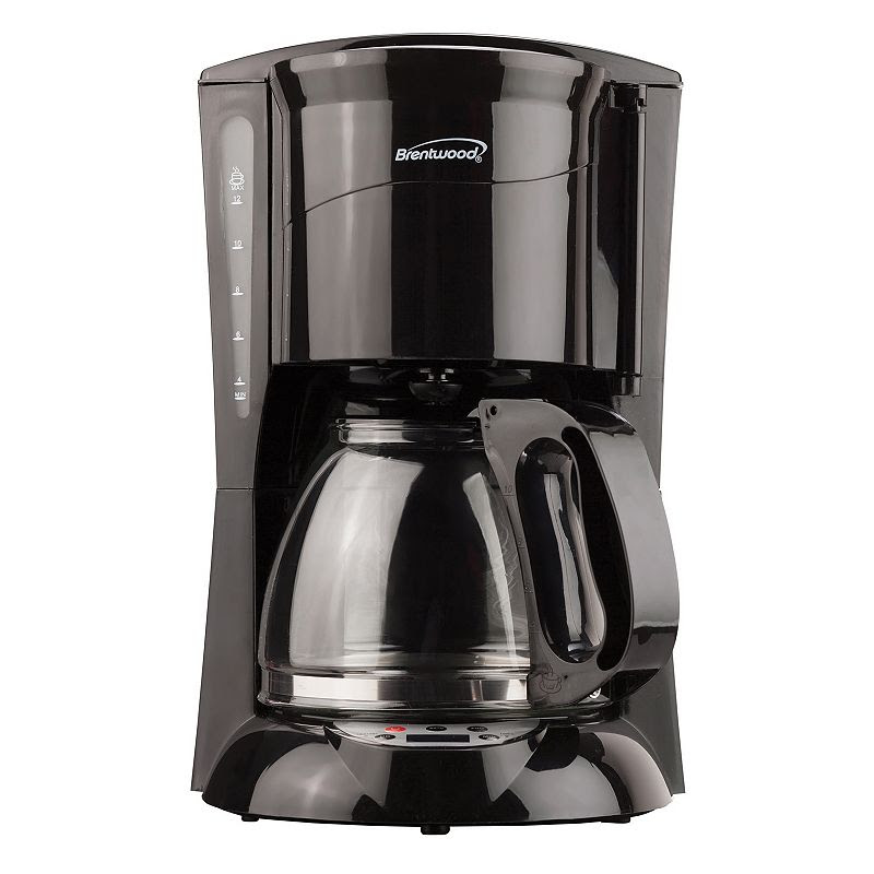 Brentwood 12-Cup Digital Coffee Maker, Black