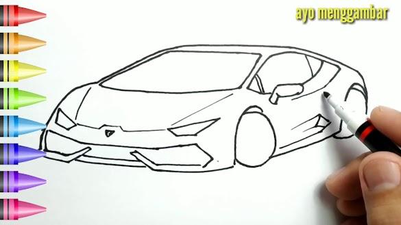 34 Cara Mewarnai Gambar Mobil Paling Baru Lingkar Png