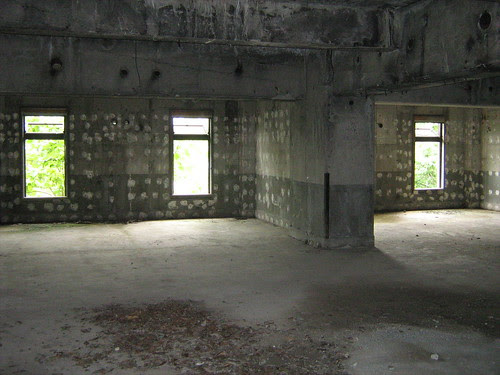 The main floor of the ruins