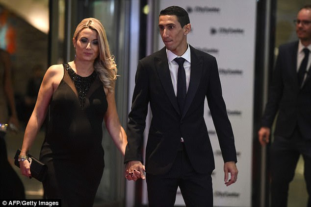 PSG winger Angel Di Maria was there to support his Argentina team-mate Messi on his big day