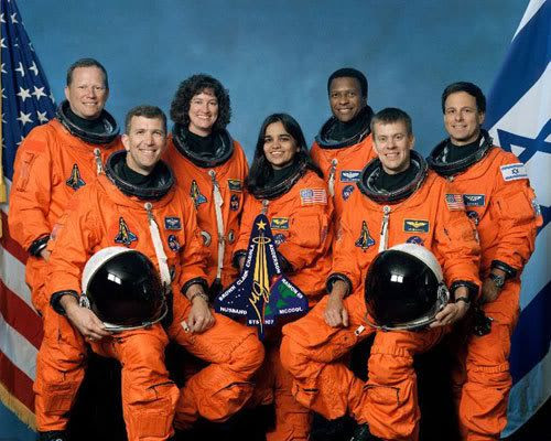 The space shuttle Columbia crew, of flight STS-107.