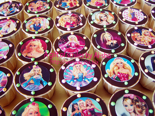 Birthday Cupcakes Edible Image Barbie