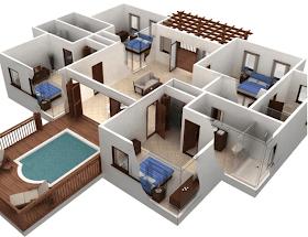 Sketsa Rumah Mewah Minimalis