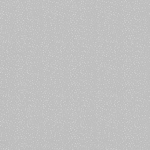 CONFETTI SNOW DOTS silver skies (cool grey light)