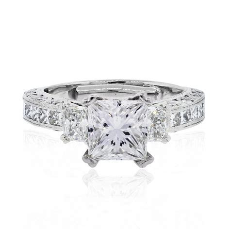Tacori Engagement Rings Platinum 1.71CT GIA Princess Cut