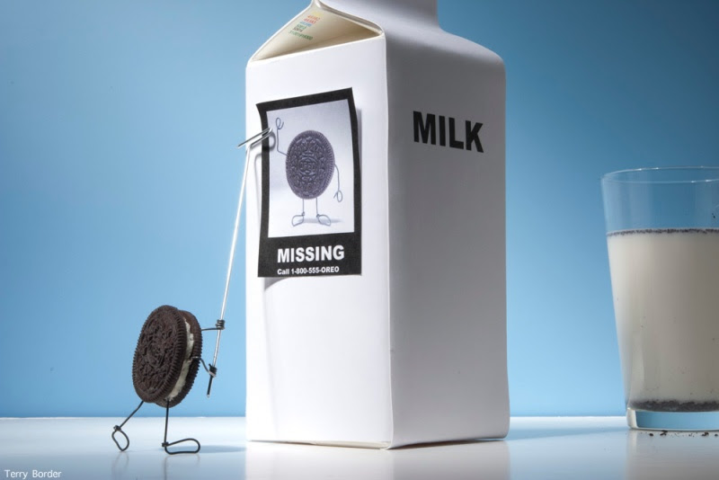 Funny bento objects by Terry Border - milk cookies
