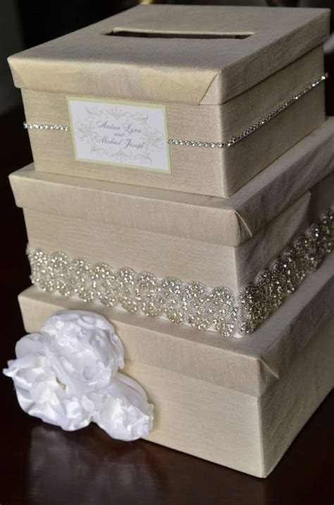 DIY Wedding Card Box   I would do ivory and coral, but