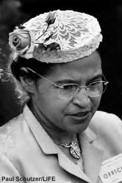 Rosa Parks during the 1950s. Her estate is the subject of a heated dispute in probate court. by Pan-African News Wire File Photos