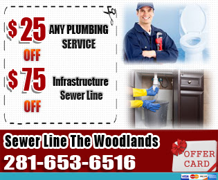 sewer line the woodlands