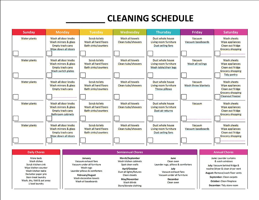 1000+ ideas about Daily Cleaning Schedules on Pinterest | Daily ...
