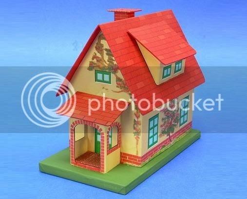 papermau build a vintage tin style cottage paper model by big indoor trains. Black Bedroom Furniture Sets. Home Design Ideas