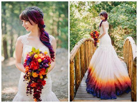 Colorful Lake Arrowhead Pine Rose Cabins Wedding