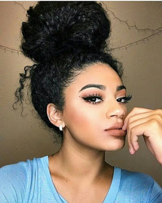 Messy Buns For Curly Hair