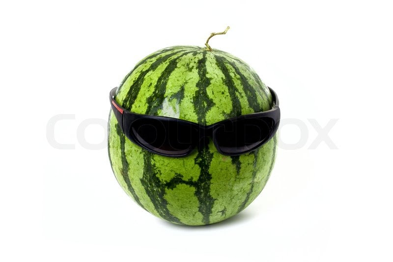 watermelon wearing sunglasses
