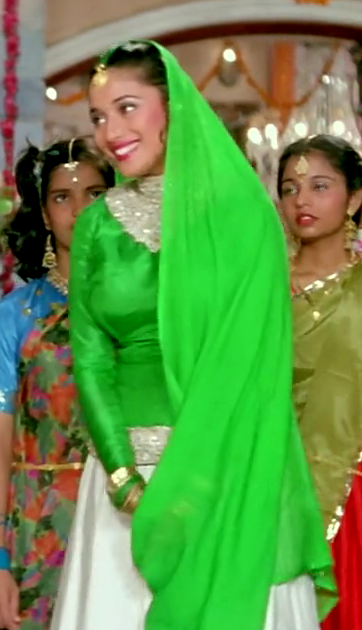 Madhuri Dixit Hum Aapke Hain Kaun Green Dress - Sheek Shop