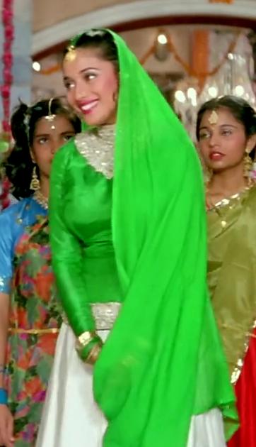 Madhuri Dixit Hum Aapke Hain Kaun Green Dress - Sheek Shop