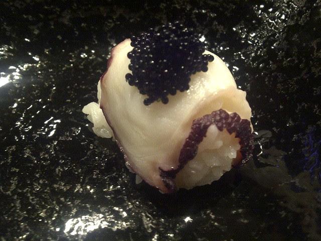 tako with caviar