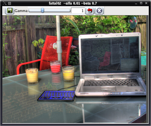 Tone Mapping GUI for Linux, Viewer Window