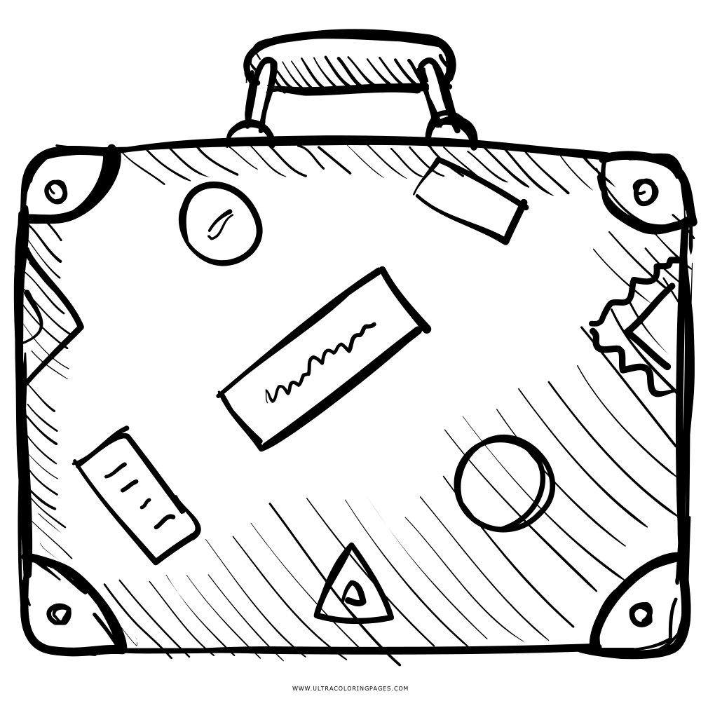 Disegni Da Colorare Valigia Pastoorvanarskijkduin