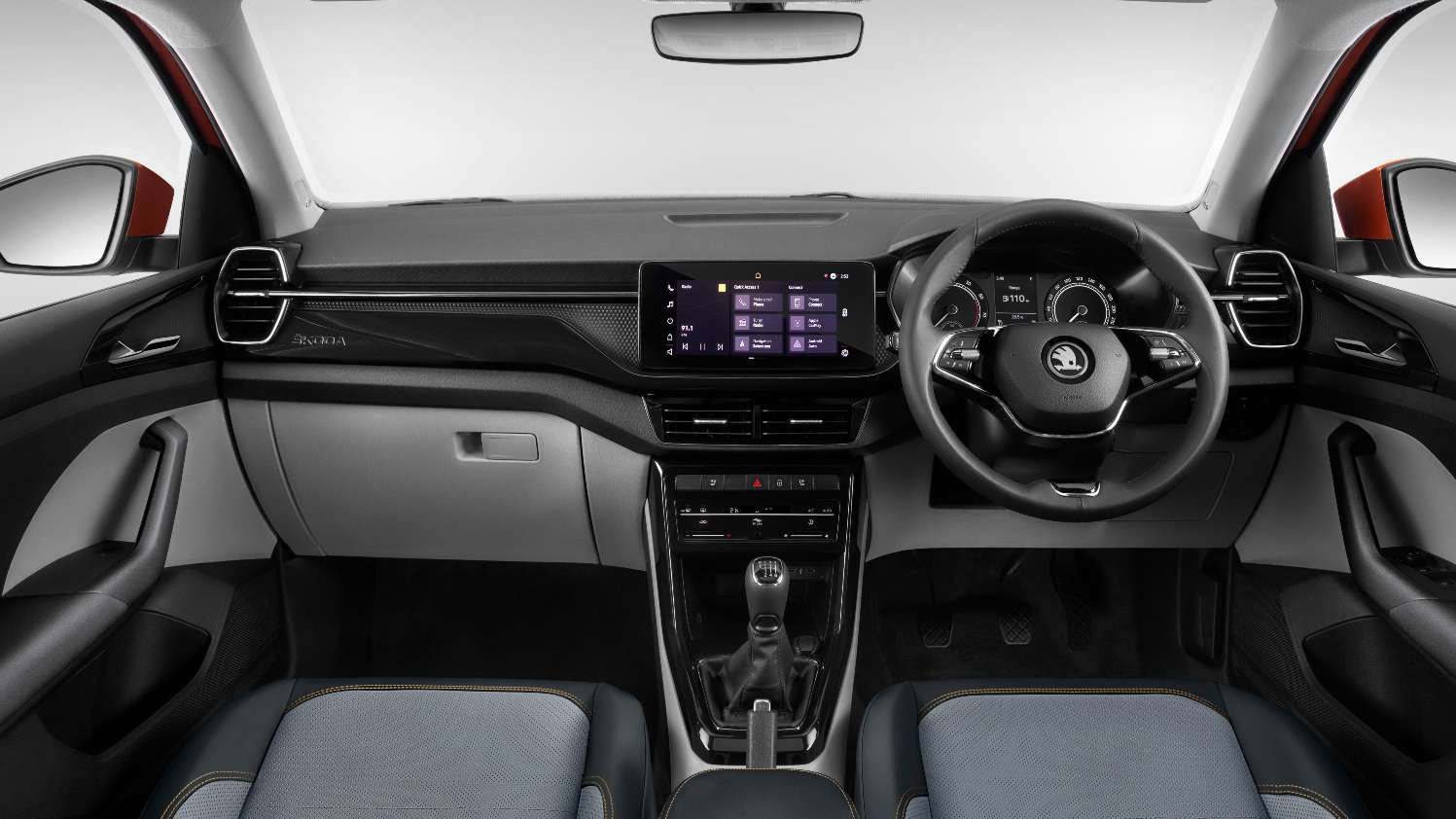 10-inch touchscreen on the Ambition and Style versions; base Active gets a 7.0-inch unit. Image: Skoda