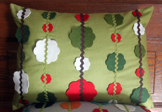 Garland Christmas Pillow