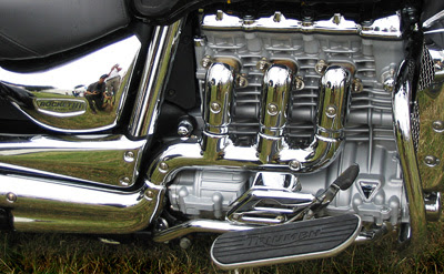 Two Photographers and a Triumph Rocket III engine