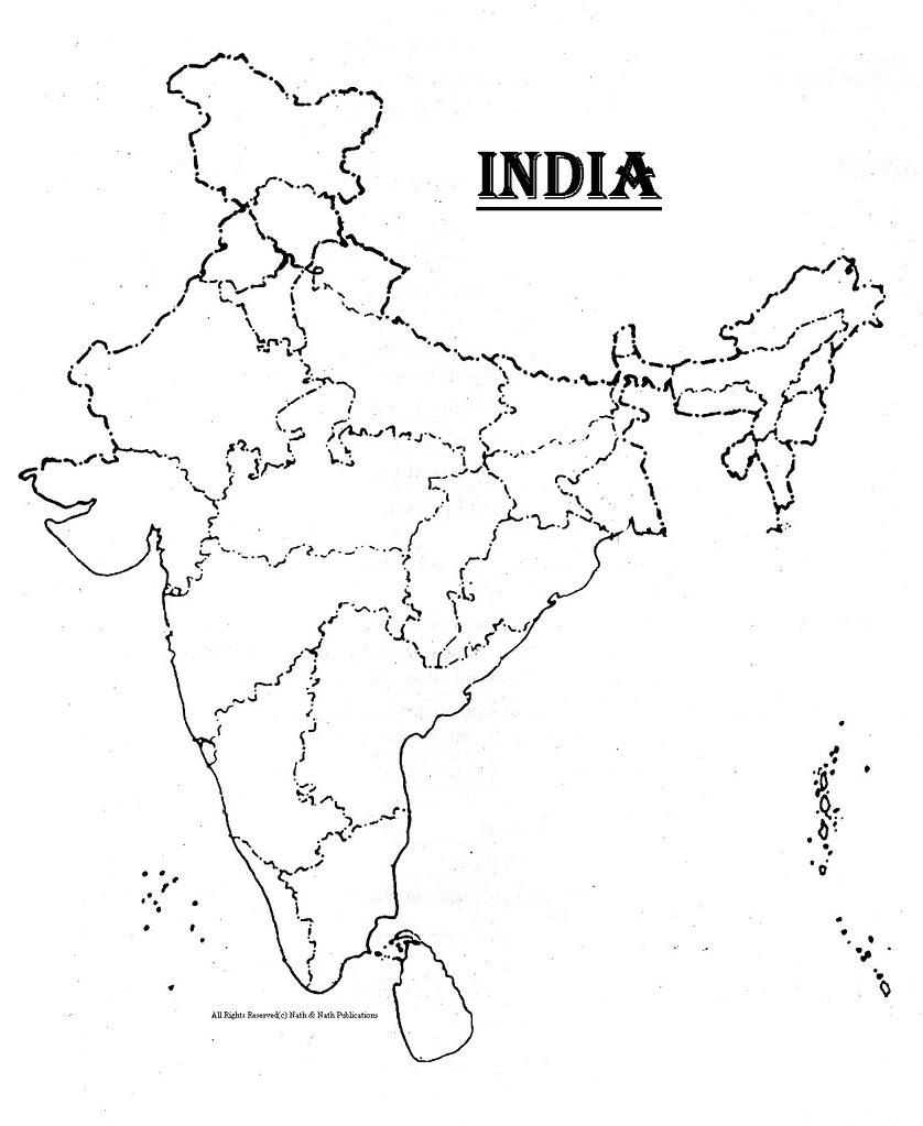 Empty map of india – cbys