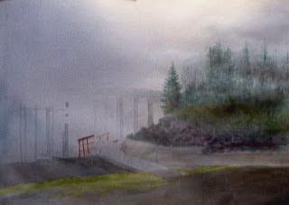 Foggy Island Bridge-step #3