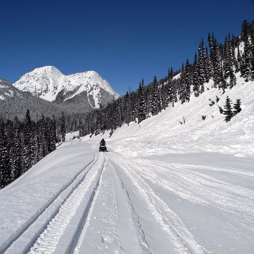 Snowmobiling the North Cascades Highway