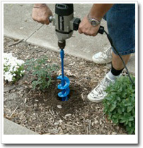 Tree planting augers, heavy duty earth augers are designed for heavy duty half inch drills