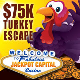 Jackpot Capital Casino Players Rescue Thanksgiving Turkeys for a Share of the Turkey Escape Bonus Giveaway