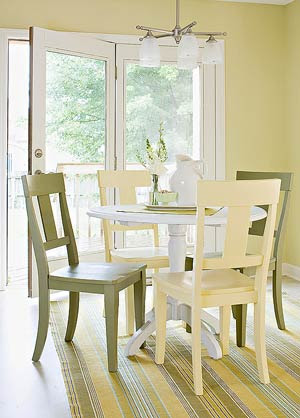 simple white dining table