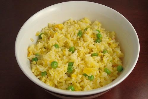 Saffron Rice with Peas