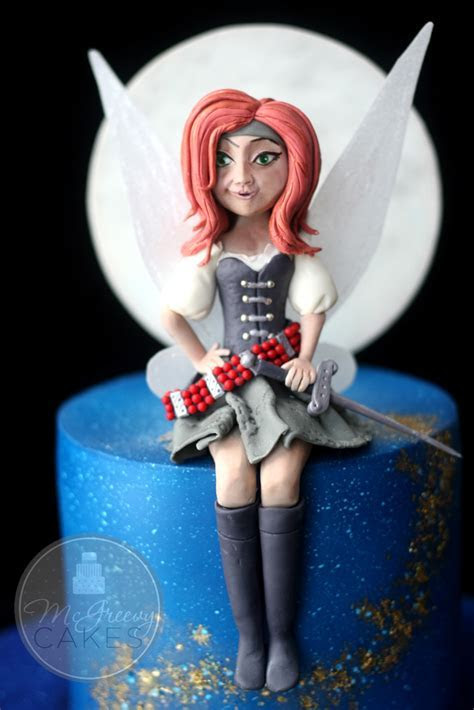 Pirate Fairy Cake (and a li'l pixie dust)   McGreevy Cakes
