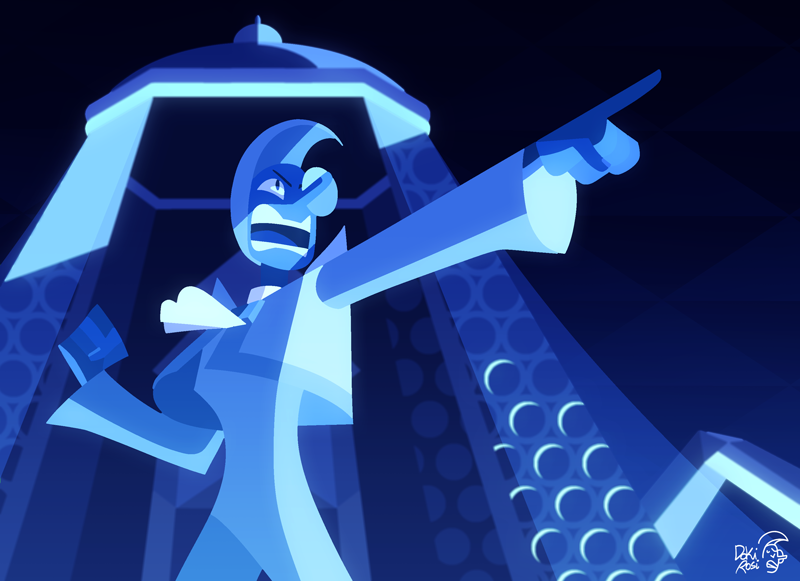 "💦 Blue Zircon 💦 ""Someone with supreme authority… Someone… like one of you! """