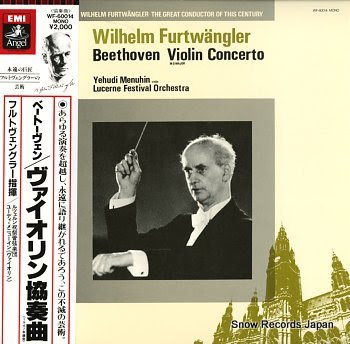 FURTWANGLER, WILHELM beethoven; violin concerto in d major
