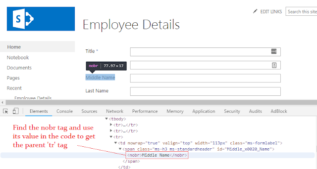How to hide SharePoint field using JavaScript