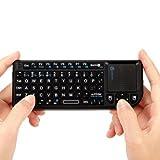 iClever 2.4GHzミニワイヤレスキーボード(IC-RF01) タッチパッドを搭載 超小型 キーボード 無線 USB レシーバー mini wireless keyboard