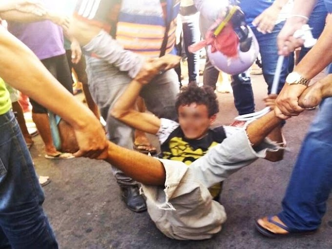 Menor homicida sofre tentativa de linchamento após furto