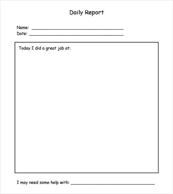 10+ Daily report templates - Word Excel PDF Formats