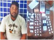 Homem é preso por tráfico de drogas após abordagem a usuário