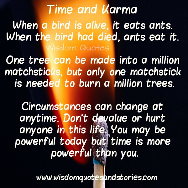 Time Karma Wisdom Quotes Stories