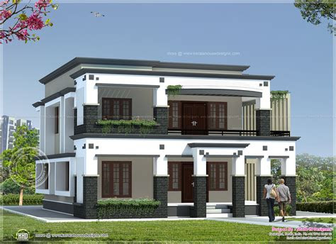 square meter flat roof house kerala home design floor