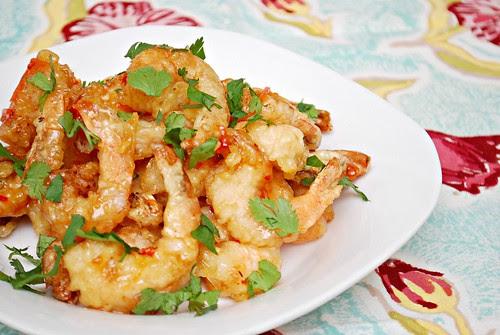 Sweet & Spicy Shrimp Tempura
